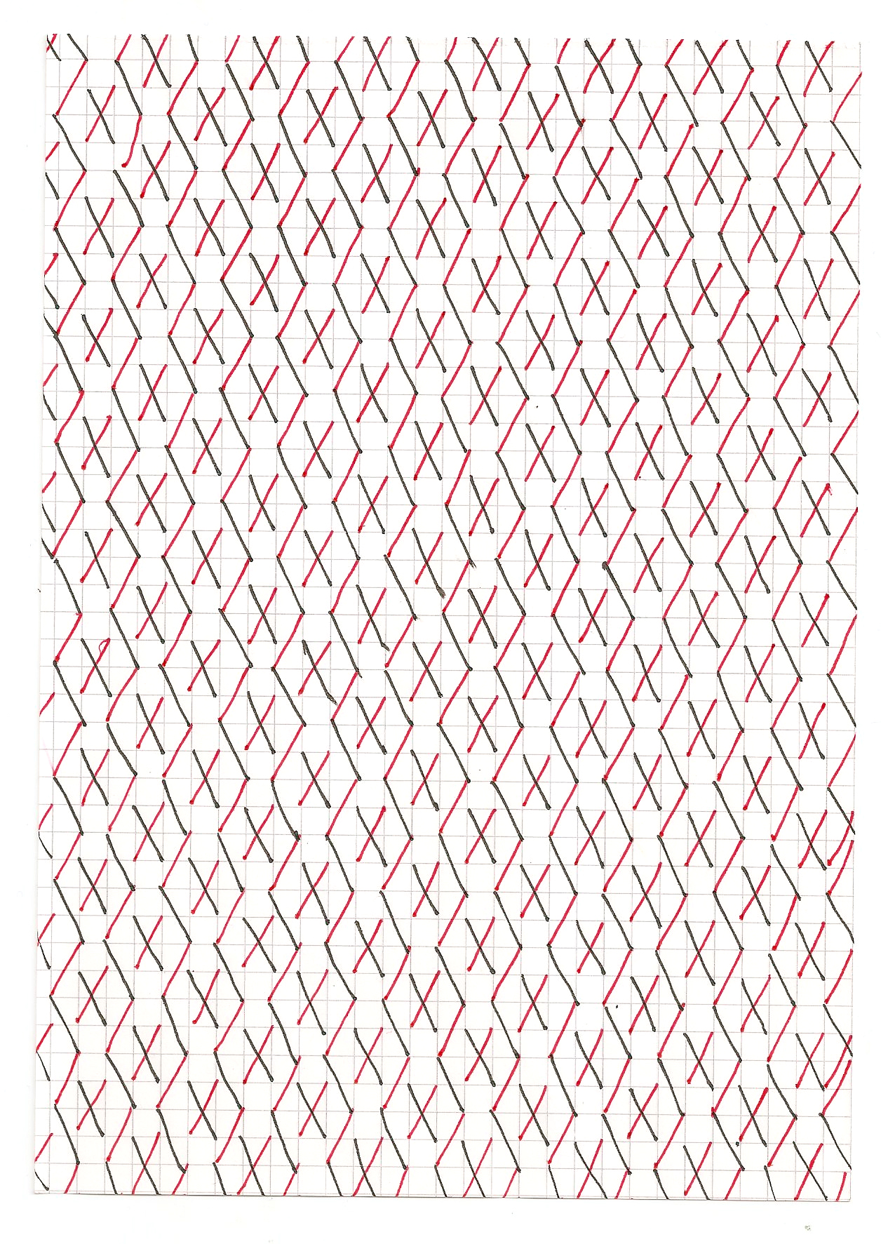 analog stereotyp 1, 21x14,8cm, Fineliner auf Papier
