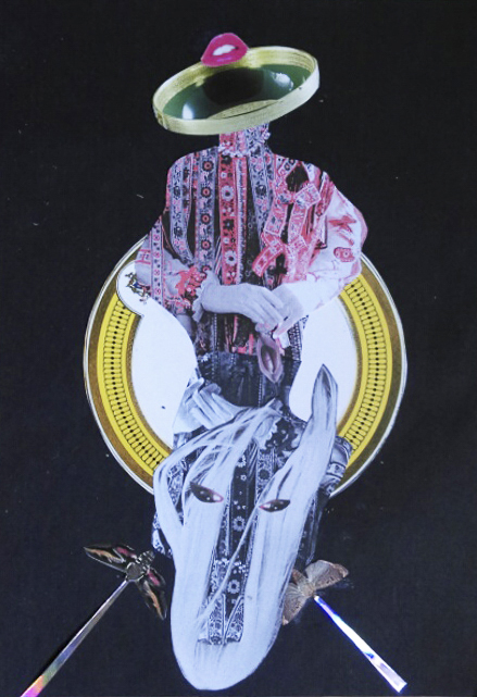 Lady Player, 27,5x20cm, Collage